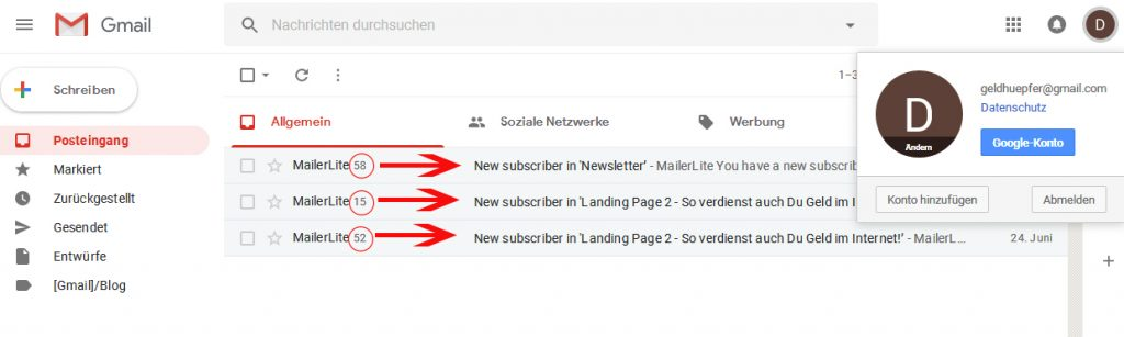 Mailer Lite Email Marketing Geld
